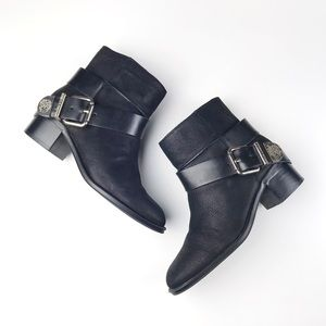 Vince Camuto Romeo Buckled Ankle Boots